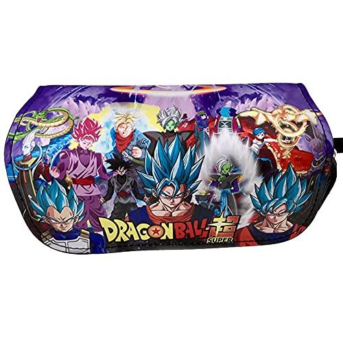 Estuche de lápices Bolas del Dragón, Hilloly Dragon Ball Estuches Escolares, Estuche de Papelería, Goku Bolsa de Lápices, Funda Organizador Portalapices de Gran Capacidad Portátil para Adolescentes