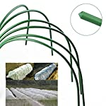 F. O. T 6pcs greenhouse hoops rust-free grow tunnel tunnel, 4ft long steel with plastic coated plant supports for garden… 7 ►material--high-qualityplasticcoatedsteelpipe,noteasytorust,canbeusedforalongtime. ►size--curvedtubelong120cm/4ft(thesizebeforebending),wide50cm/19. 7inch,high48cm/18. 9inch(thesizeafterbending),tubediameter11mm/0. 43inch. eachpackagecontains6hoops. Gardenfabricnotincluded. ►easytosetup--comescompletewithsharpenedpointsonbothsidesforeaseofplacement. washable,reusable,flatforstorage. createsafavorablemicroclimateforyourplants.