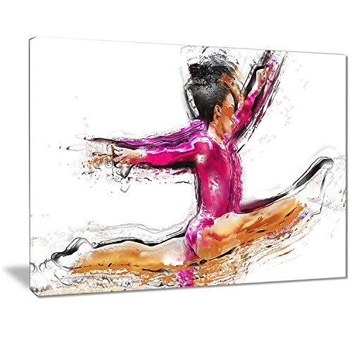 """Impressão artística digital de arte de basquete Slam Dunk Sport, 32x16"""", 1"""