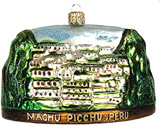 Machu Picchu Peru Polish Glass Christmas Ornament Travel Souvenir Decoration