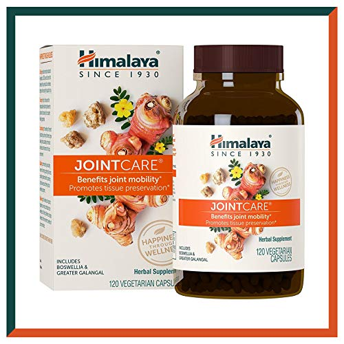 Himalaya JointCare with Boswellia, Joint Supplement for Mobility, Flexibility and Joint Support, 1200 mg, 120 Capsules, 1 Month Supply