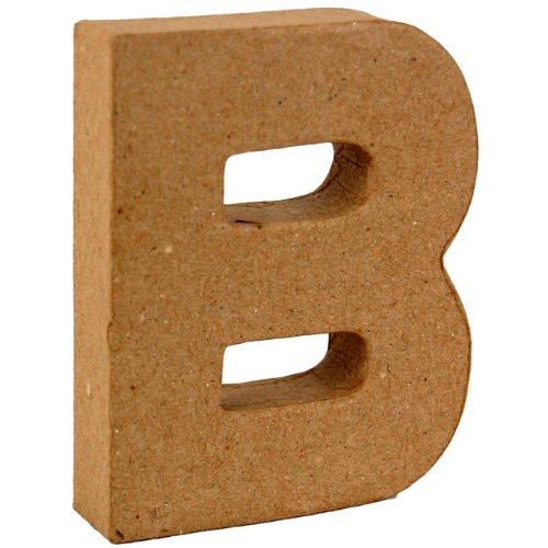 Country Love Crafts 4-inch/10 cm 3D-letter B van papier-maché