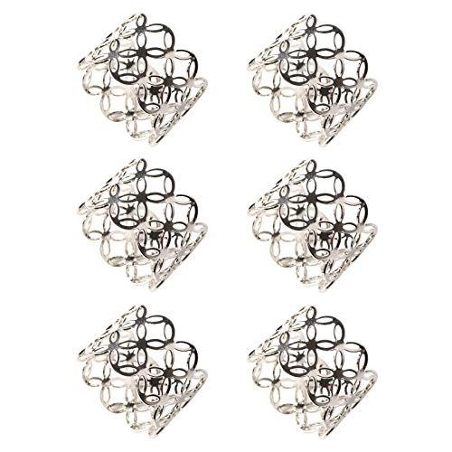 MA Lvjkes Serviettenringe, 6 Stück Serviettenhalter Ringe, Elegante Western Serviettenschnalle Serviette Metall Ringe für Hochzeitsbankett Hotelzubehör Jubiläum Geburtstag Festival Dekoration (Gold)