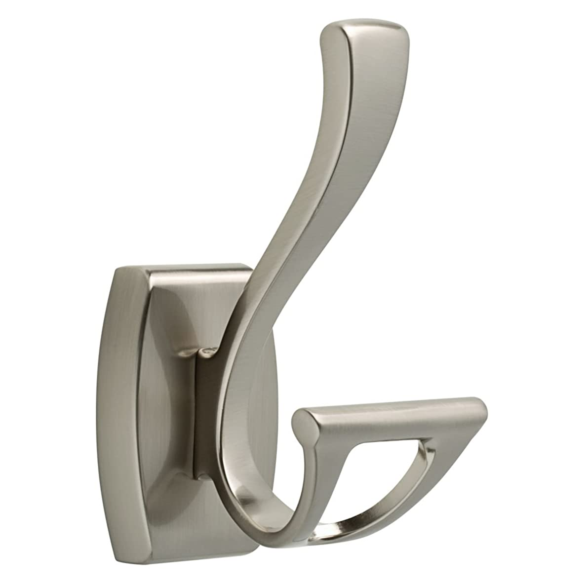 DELTA FAUCET 135241 Dansant Double Robe Hook, SpotShield Brushed Nickel