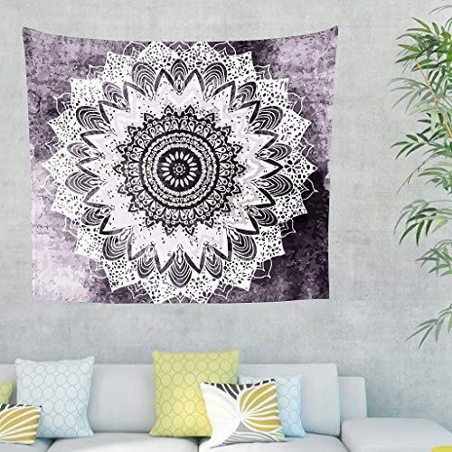 YxueSond Nieuwe Woonkamer Sofa Achtergrond Psychedelische Bohochic Mandala In Paars Huis Beddengoed Decoraties Boheemse Rechthoek Print Tapestry Tafelkleed Dorm Decor