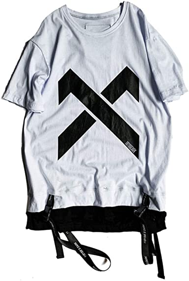 Tasty Life Camiseta De Hip-Hop para Hombre Moda Falsa De Dos Piezas Camiseta con Estampado De Verano Cuello Redondo Camisa Suelta De Manga Corta ...