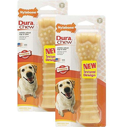 Nylabone Dura Chew Souper Lot de 2 jouets à mâcher aromatisés pour chien