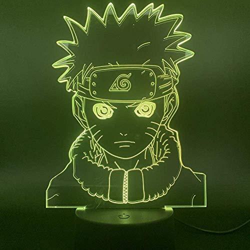 Lámpara De Ilusión 3D, Luz De Noche Led, Naruto Para Decoración De Niños, Dormitorio, Niños, Acrílico, Funciona Con Pilas, Uzumaki Naruto