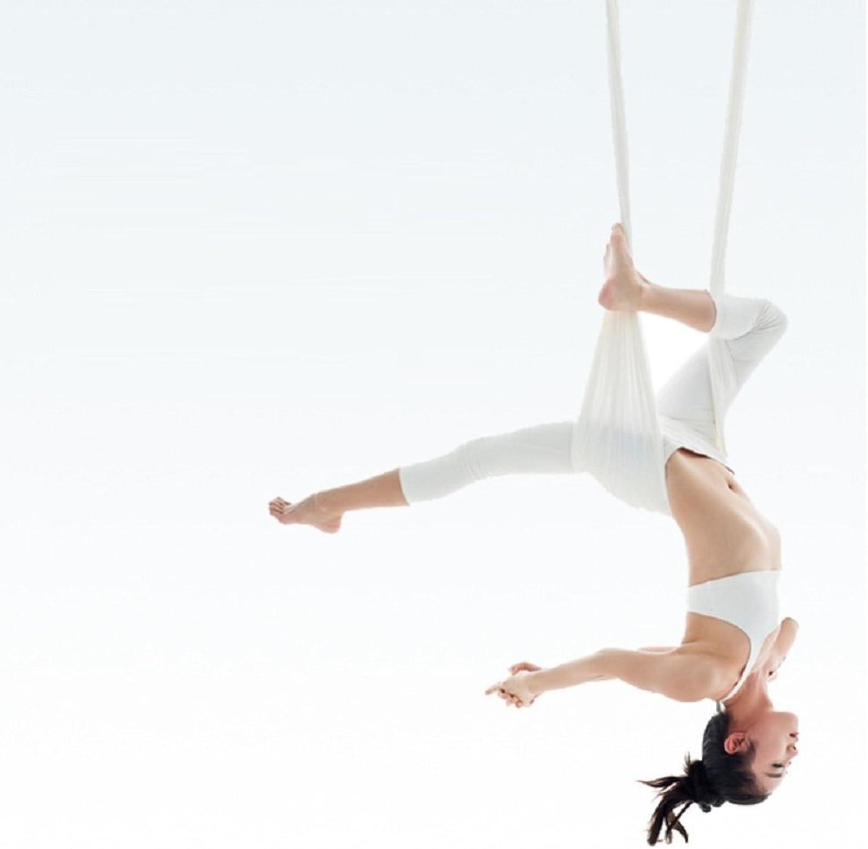Jiss Hngematte Yoga Schwerkraft Elastischen Sling Tuch,Wei,Einheitsgre
