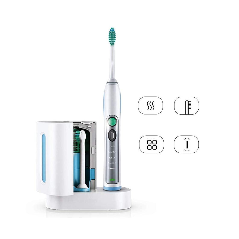 結婚式トピック上回る電動歯ブラシ 殺菌剤+歯ブラシ旅行箱の深いクリーニングの歯ブラシが付いている大人の音波の振動電動歯ブラシ