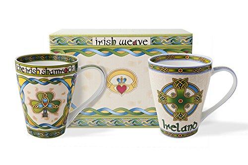 Royal Tara Irish Bone China Cup Set with Gift Box (Irish Shamrock)