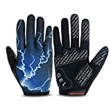 Touch Screen Adatto for Summer e Summer Road Racing for Moto Completa Finger Gloves, Adatto for i Ciclisti del Motociclo Caccia e Arrampicata Guanti da Lavoro Sport (Dimensione : L)
