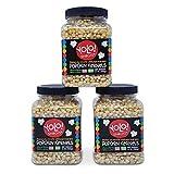 YOLO! Snacks - Premium White Virtually Hulless Popcorn Kernals - Non-GMO - 14oz (3 Pack)