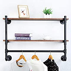【Distressed Decor】:Industrial iron pipe and baking varnish real pine wood. 【Size】:Length 36 x Height 21.64 x Depth 9.84 in. 【Easy to Assemble】:With the instructions,the assembly requires two people to collaborate. 【Convenient Clothing Storage】:Hold a...