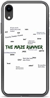 iPhone XR Pure Clear Case Cases Cover The Maze Runner Qoutes