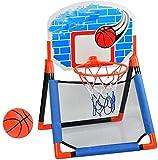 Soporte de baloncesto interior, Mini aro de baloncesto para niños, con red de pelotas, juguetes deportivos interiores,Blue