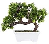 Árbol Bonsai Artificial - Plantas artificiales para la decoración, Planta en maceta artificial para la casa, Decoración Zen de jardines, 26 cm x 24 cm x 12 cm