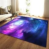 PEIHUODAN Púrpura Negro Rojo Galaxia Universo Alfombra Salon Dormitorio Niño Adolescente Alfombra Cocina Comedor Entrada Antideslizante Rug Mat Lavable (Color5,120 x 160 cm)