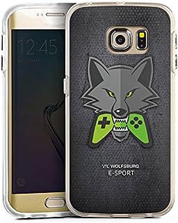 DeinDesign Samsung Galaxy S6 Edge Bumper Hülle transparent Bumper Case Schutzhülle VFL Wolfsburg Esport Merchandise Fanartikel