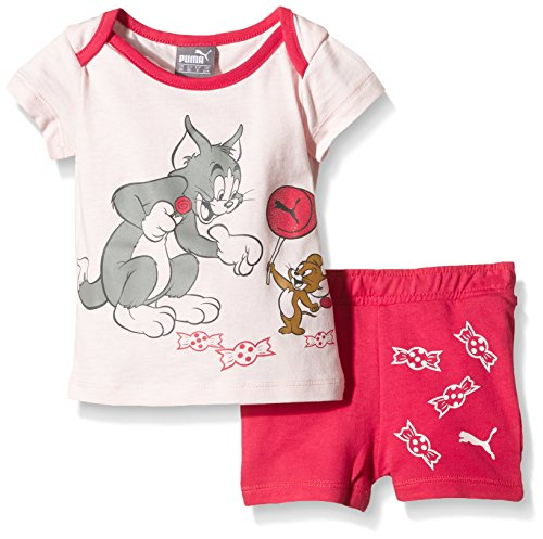 PUMA Baby Set Fun Tom und Jerry JR, Pink Dogwood/Rose Red, 62