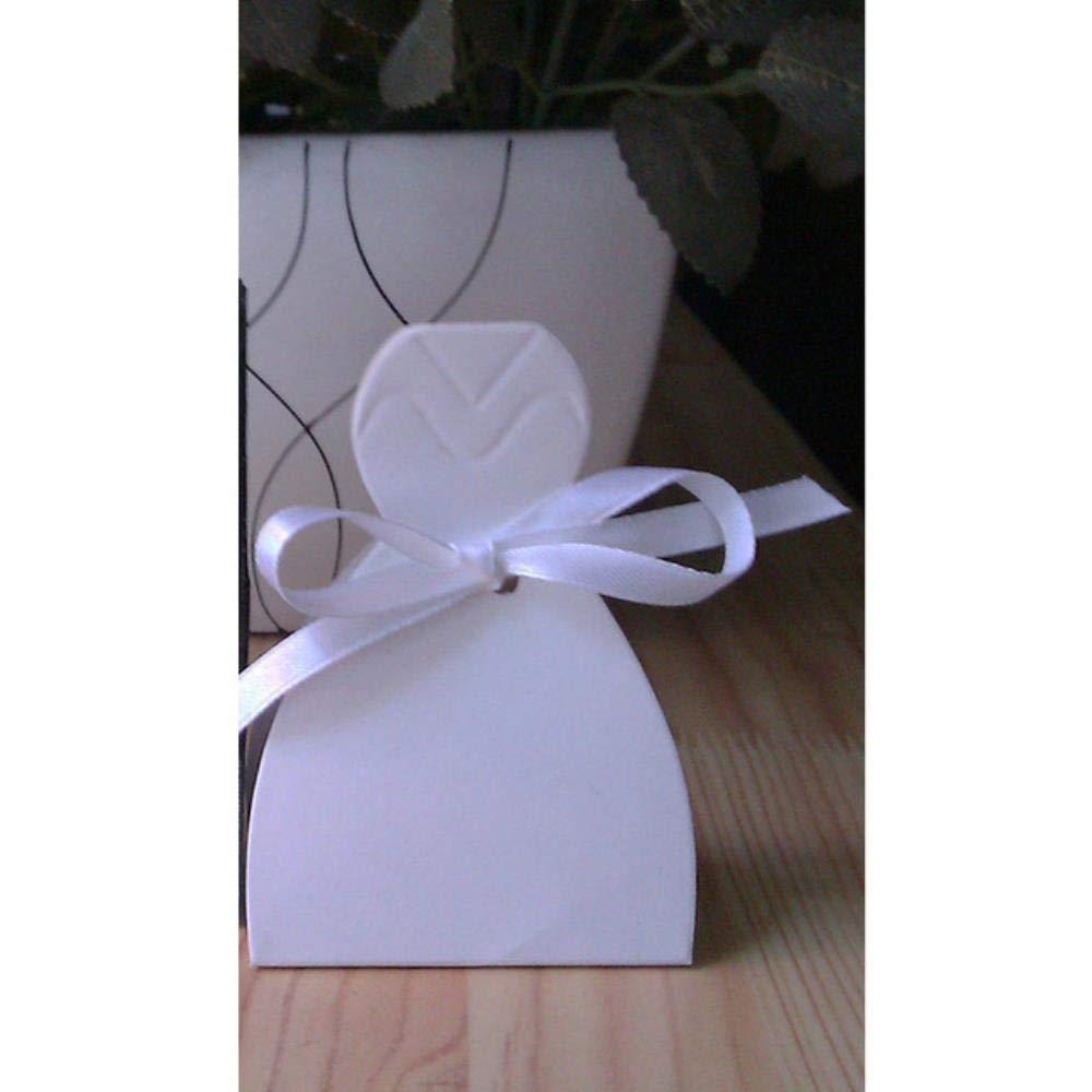 WXCL 100 Piezas/múltiples Vestido de Novia y Novio Boda Caja de Dulces Bolsa de Regalo Caja de Regalo Flor de Boda DIY Evento Fiesta Decoración de Regalo Cajas Dulces, Novia 4: Amazon.es: