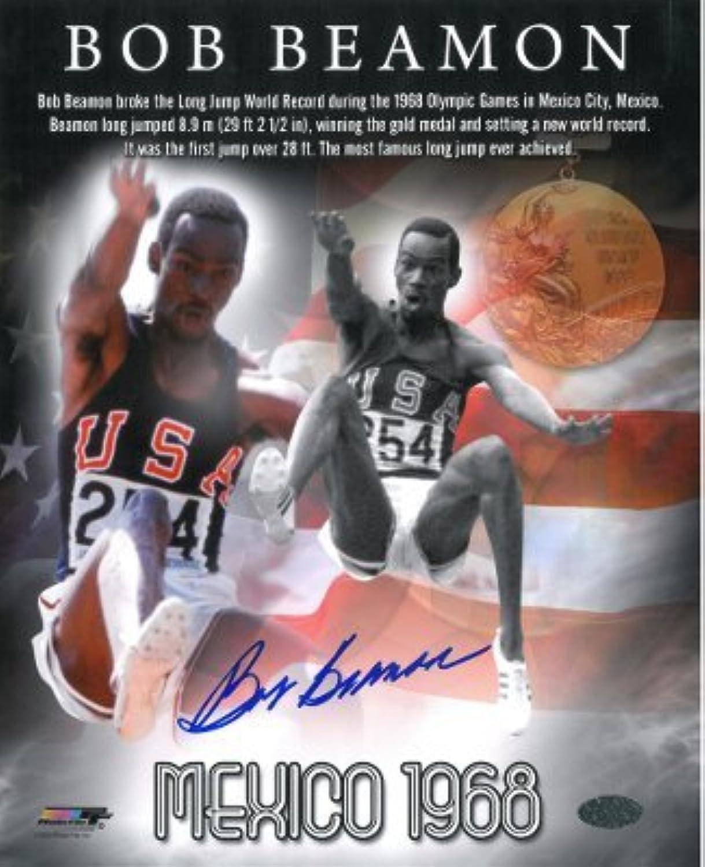 Bob Beamon signed Team USA Track & Field 8x10 Photo 1968 Mexico Olympics World Record  Autographed Olympic Photos
