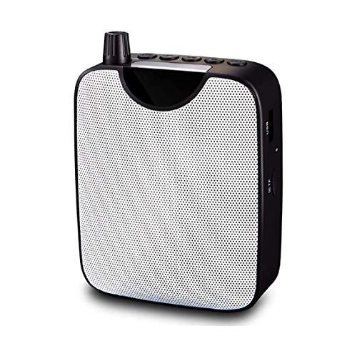 ZOUSHUAIDEDIAN Mini Guía de Canto Amplificador inalámbrico portátil Amplificador de Voz for el Profesor Compras Los más Ancianos guías, etc, Incorporado en la batería Recargable, Negro