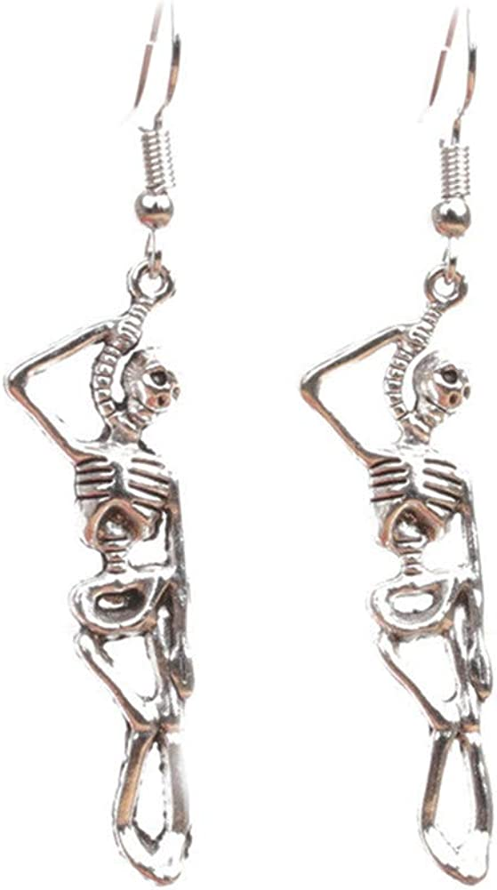 Sterling Ranking integrated 1st place Silver 925 SEAL limited product Plated Retro human Dang bone skeleton Design