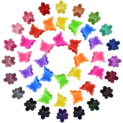 160 Pcs Mini Hair Clips, Fengek 100 Pcs Butterfly Clips with 60 Pcs Petal Clips Hair Accessories for Girls and Women, Assorted Color