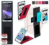 Hülle für HTC Desire 650 Tasche Cover Case Bumper | Rot |