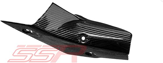 (2015-2020) YAMAHA YZF R1 / R1S / R1M (100%) TWILL CARBON FIBER MID-PIPE EXHAUST GUARD COVER FAIRING [Same Weave Pattern & Gloss Finish as the Yamaha YZF-R1M]