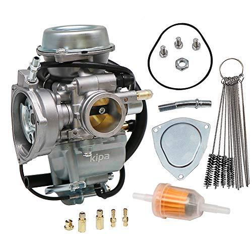 KIPA Carburetor For Suzuki Ozark 250 LT-F250 LTF250 LTF 250 ATV 2002-2010 LTZ250 2004-2009 Replace OE # 13200-05G01 With Carbon Dirt Jet Cleaner Tool Kit