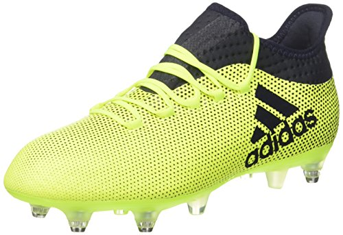 adidas X 17.2 SG, Scarpe da Calcio Uomo, Giallo (Solar Yellow/Legend Ink/Legend Ink), 40 2/3 EU