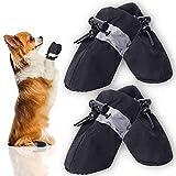 Protector de patas para perros y gatos – Zapatos de caza – Zapatos de mujer con correas ajustables, antideslizante y prevención de la pata del perro Burns...