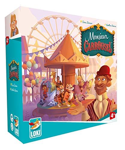 Monsieur Carrousel - Bordspel - Coöperatief spel met een carrousel - Voor Kinderen - Taal: Engels
