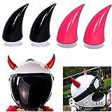 DINGZHAO - 4 piezas para casco de cuernos de diablo con vent