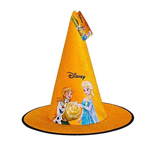 Ciao- Cappello Cono Strega per Bambini, Arancio, One Size, 29006
