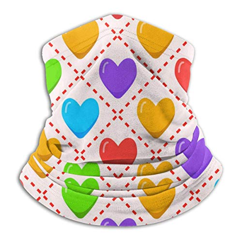 Romántico con arcoíris de color arco iris Polaina Calentador Cubierta a prueba de viento Cubierta de la cara Pasamontañas de invierno Bufanda Cubierta