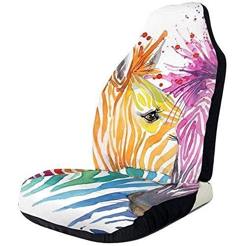 Sobre-mesa Cute Zebra Watercolour Funda de Asiento de Coche 1 Piezas Asientos Delanteros Universal Fit