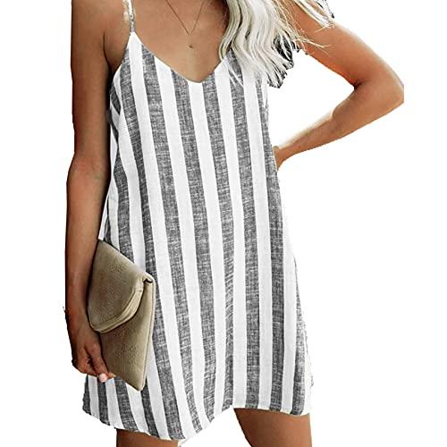 abito donna wish Cross-Border 2021 Modelli Caldi Europei E Americani Ebay Amazon Wish Fashion Abito A Bretelle A Righe Sexy Abbigliamento Donna