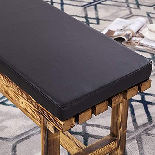 Cojín de banco al aire libre, cojín rectangular de patio, cojín de silla duradera impermeable de poliuretano con lazos no deslizantes para exteriores y hogares, 130 x 40 cm