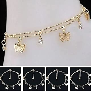 khim center shop Women Charm Gold Butterfly Ankle Chain Anklet Bracelet Foot Jewelry Sandal Beach by khim