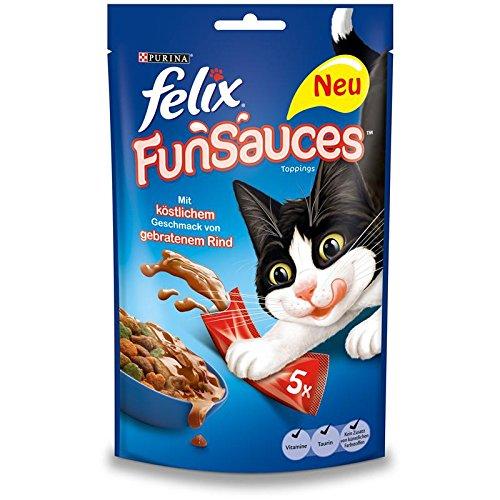 Felix Katzensnack FunSauces Roasted Beef | 10x 75g
