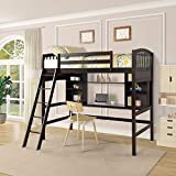 Wood Platform Bed, Two Headboards Bed Frame Mattress Foundation with Wood Slat Support/No Box Spring Needed Twin (Espresso) (Espresso)