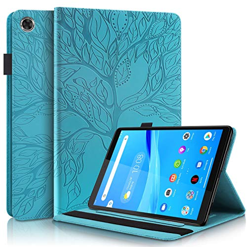 Pefcase Lenovo Tab M8 / Smart Tab M8 / Tab M8 FHD Case Premium PU Leather Cover Folio Stand Case Flip Wallet Shell for TB-8505F / TB-8505X, Lenovo Tab M8 (2nd Gen) 2019 Tablet - Turquoise