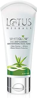 Lotus Herbals Whiteglow 3-In-1 Deep Cleansing Skin Whitening Facial Foam, 100g