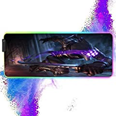 [Large size] The size of the RGB mouse pad is 11.8x31.5x0.16 inch, which can be used with all keyboards and mice, and still has a lot of moving space. [RGB Extended gaming mouse pad] This gaming mouse pad has 12 lighting modes. 9 static light modes, ...