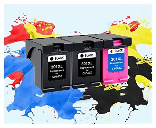 ZITENG CGBH Cartucho 301XL 3Pack Compatible for HP 301 XL for hp301 Cartucho de Tinta for HP Envy 5530 Deskjet 2050 2540 2510 1000 1050 Impresora (Color : 2PCS BK 1PCS Color)