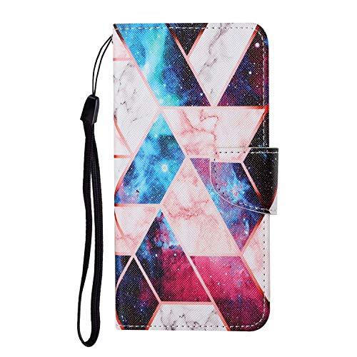 TYWZ Lederen Wallet Case voor Samsung Galaxy A71, Flip Cover met Patroon Kichstand Kaarthouder Slot Bookstyle…