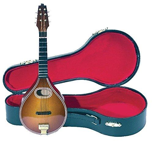 GEWA 980640 - Instrumentos en miniatura, mandolina con estuche, 15 cm